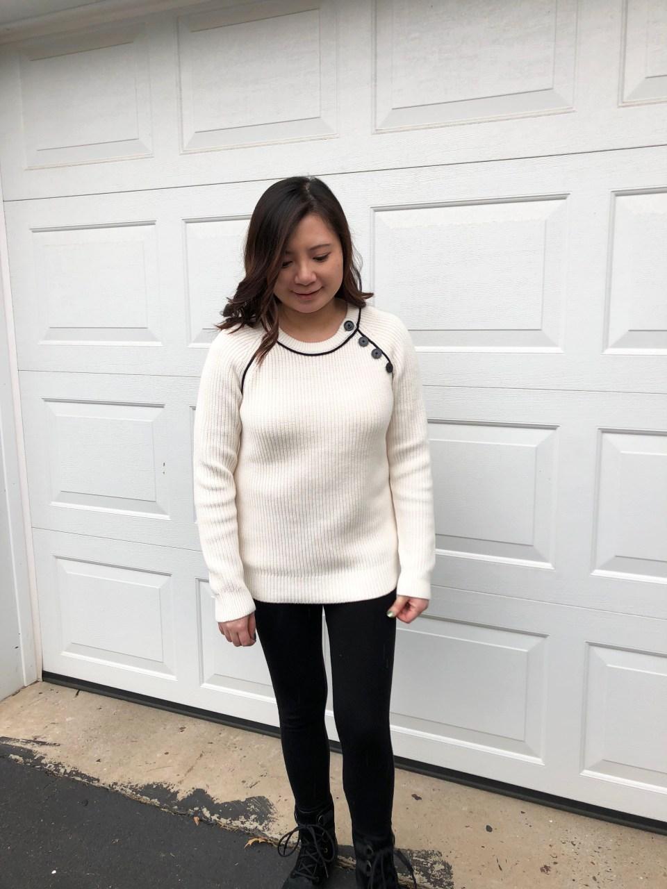 Piped Button Trim Sweater 8