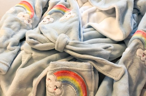 Rainbow Plush Robe
