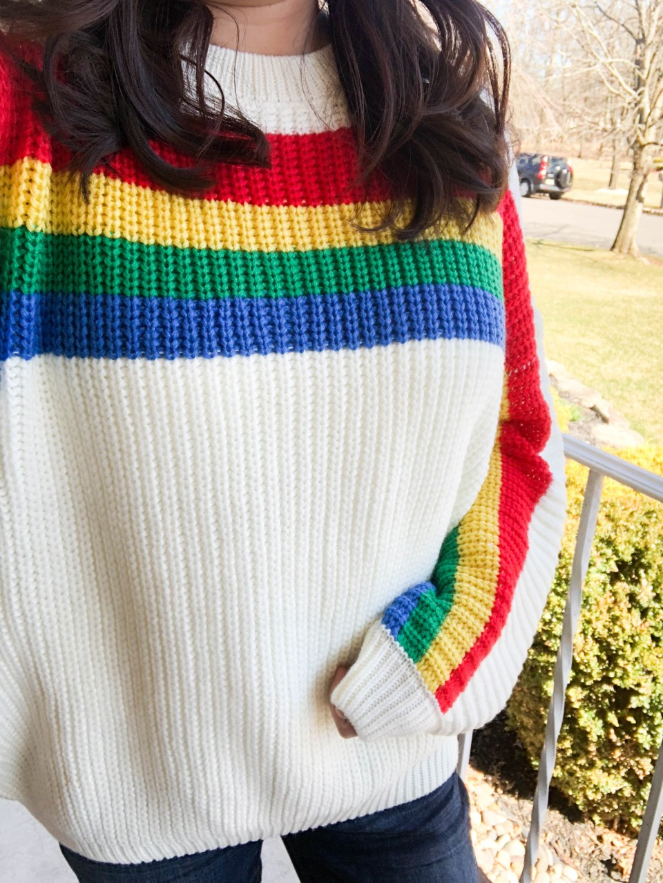 Rainbow Stripe Sweater 7