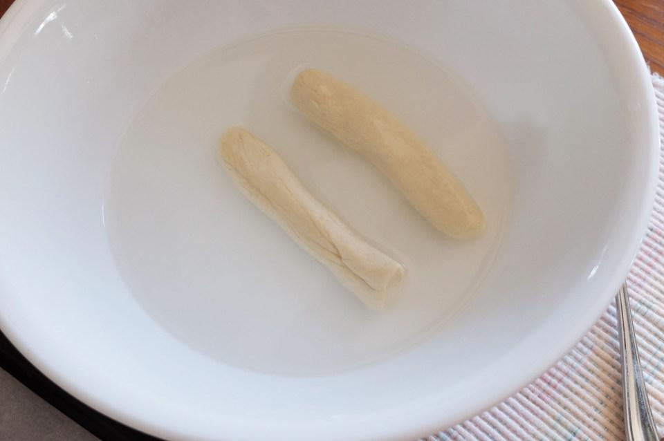 Soft Pretzels - baking soda bath 2