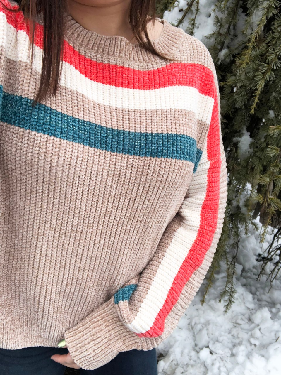 Striped Shimmer Sweater 12