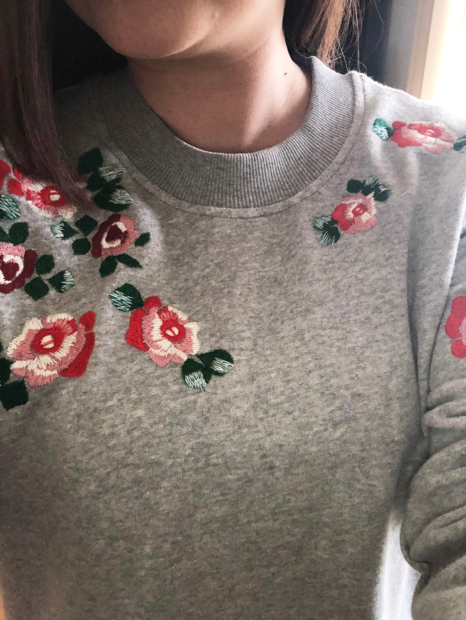 Floral Embroidered Sweatshirt 13