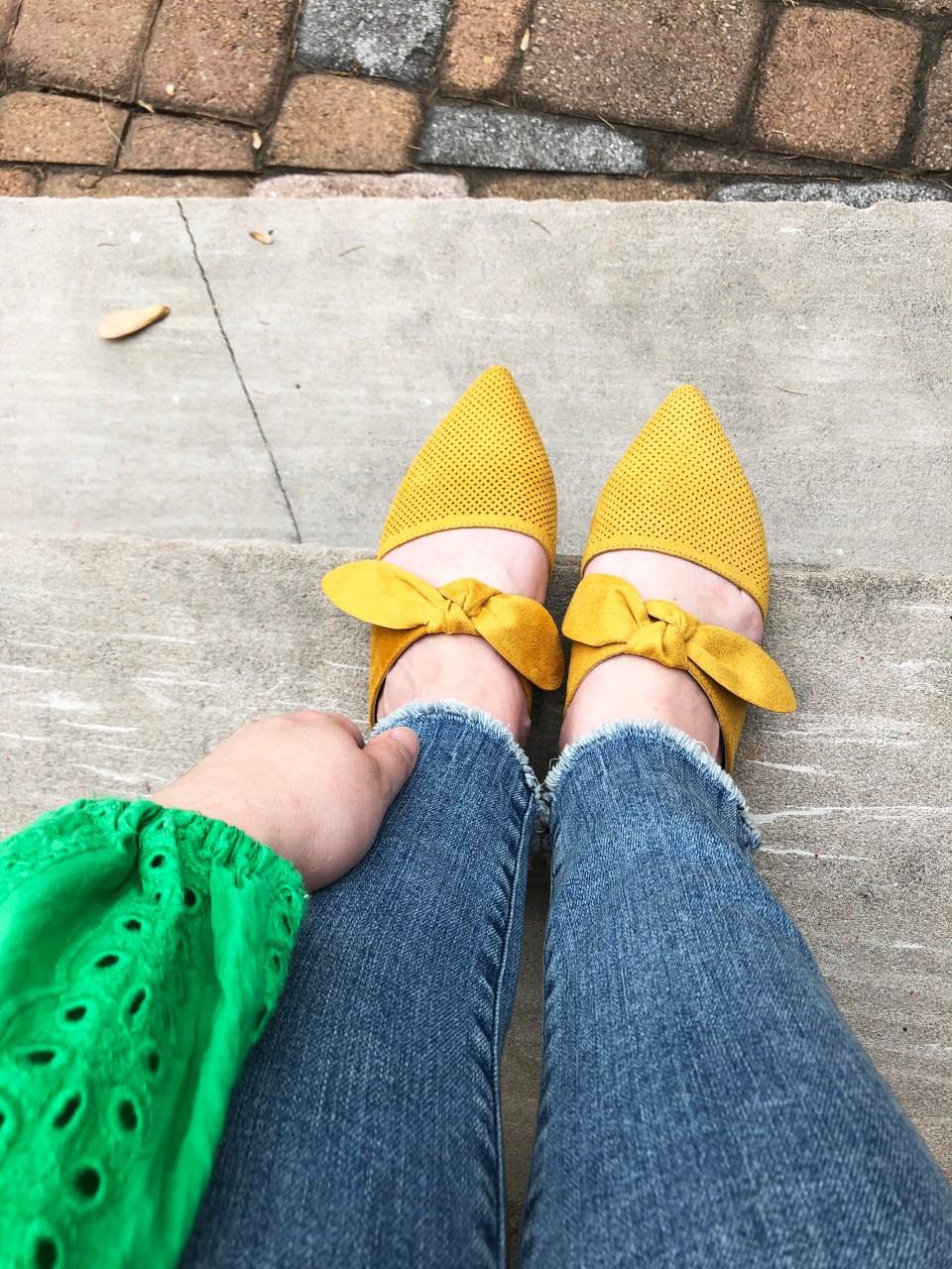 Mustard Yellow Mules 2