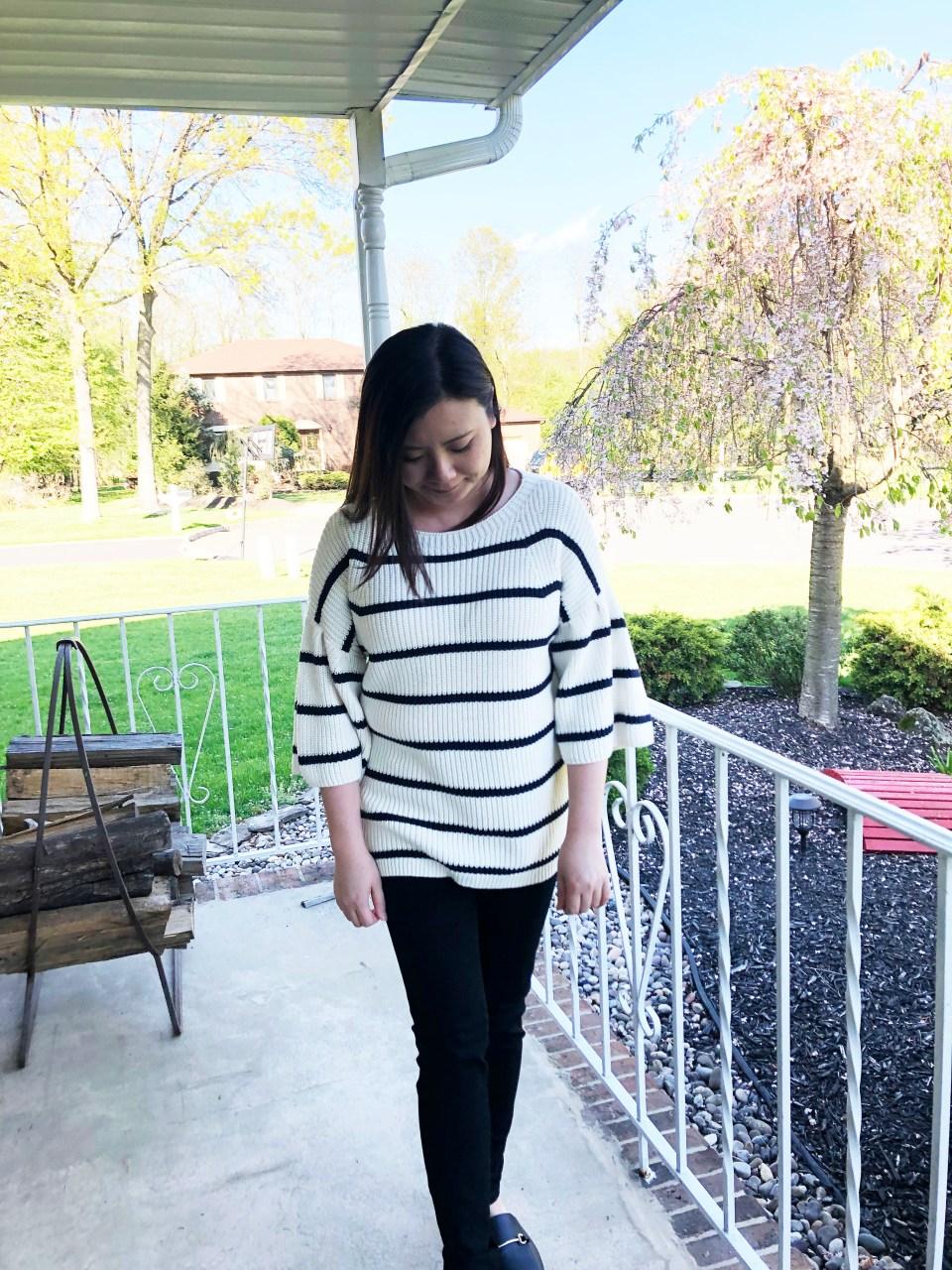 Striped Short Bell Sleeve 8