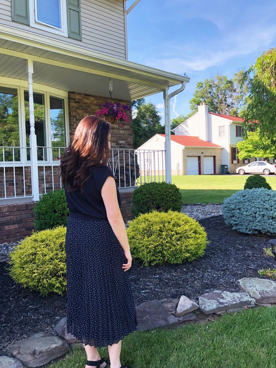 Geo Pleated Henley Dress 9