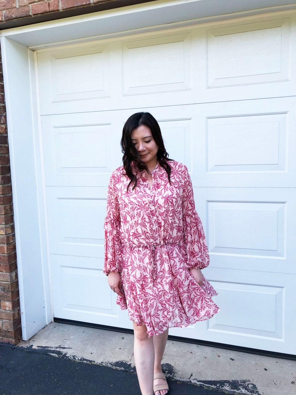 Grapevine Balloon Sleeve Dress 10