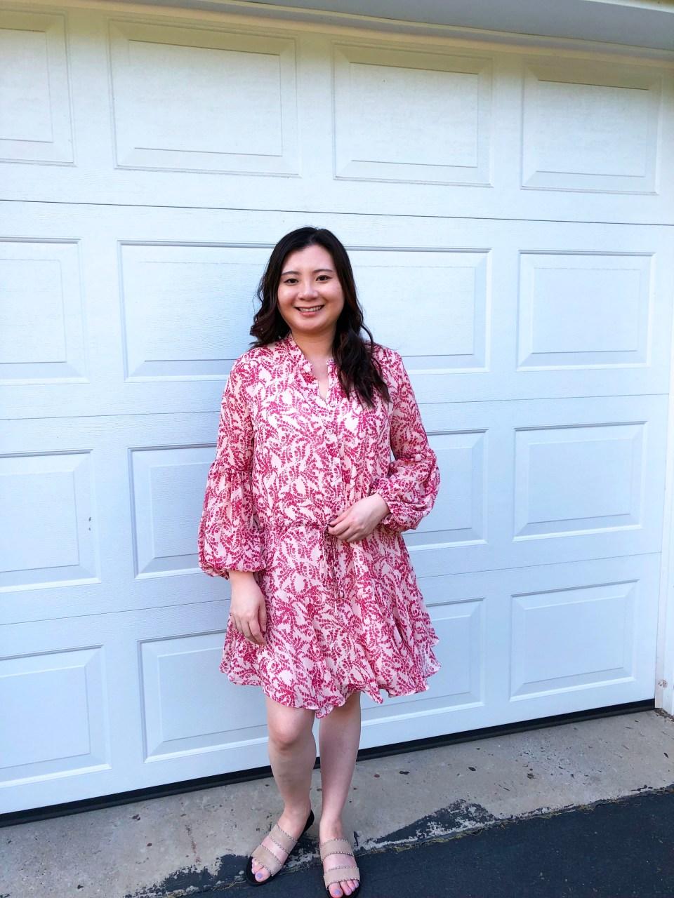 Grapevine Balloon Sleeve Dress 2