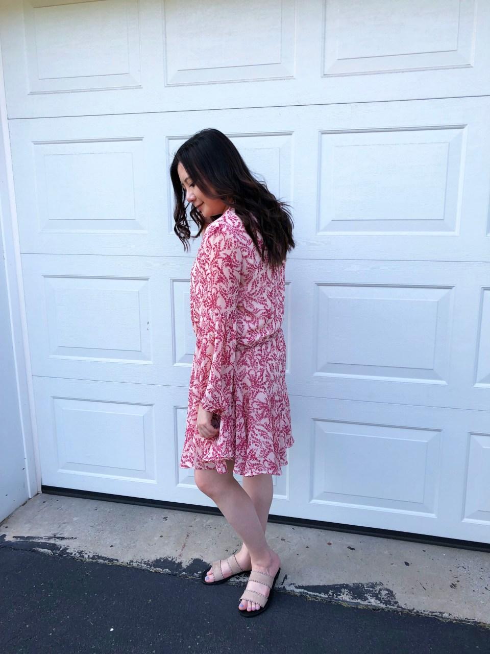 Grapevine Balloon Sleeve Dress 4
