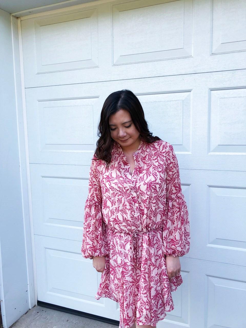 Grapevine Balloon Sleeve Dress 7