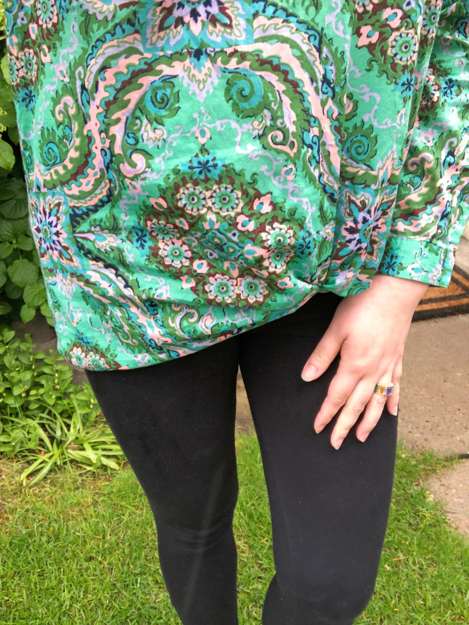 Green & Pink Paisley Top 15