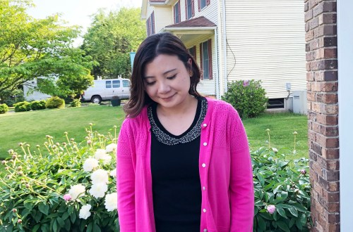 Jeweled Peter Pan Collar + Pink Cardigan