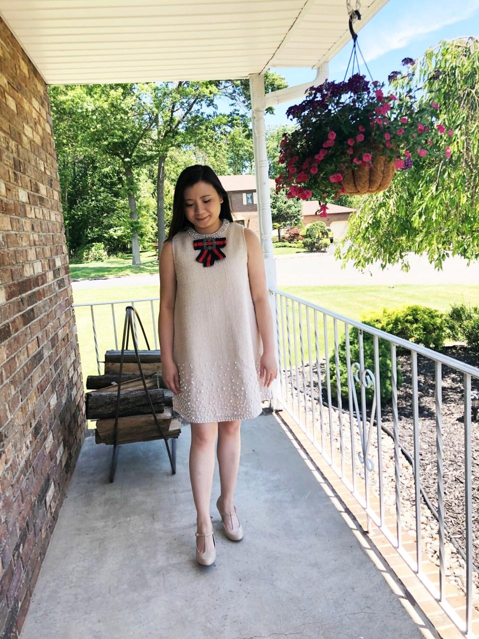 Pearl Embellished Shift Dress 10