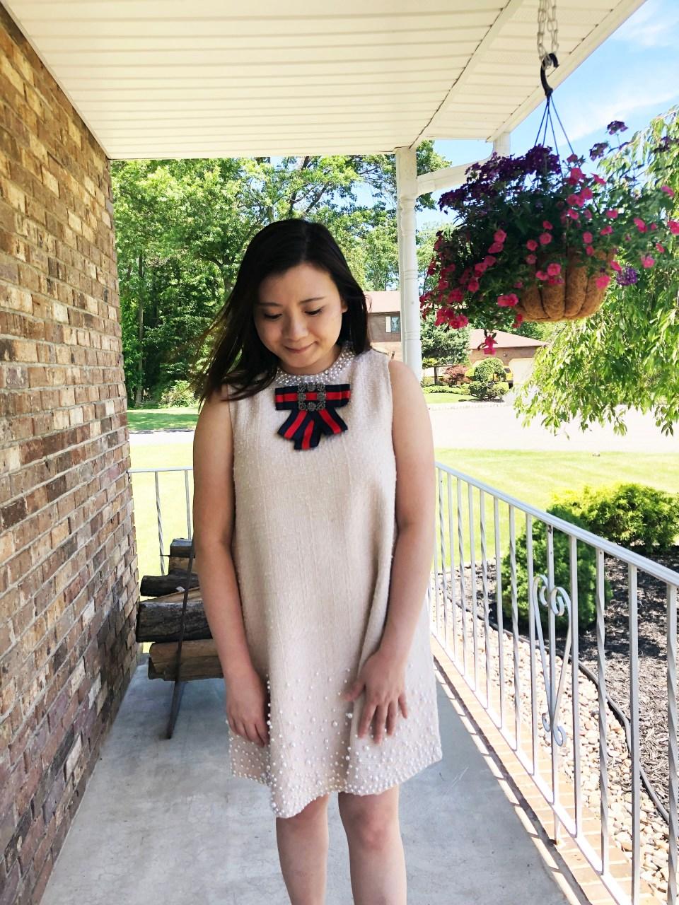 Pearl Embellished Shift Dress 15