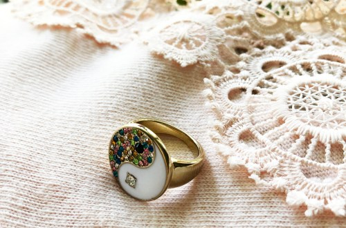 Yin & Yang Statement Ring