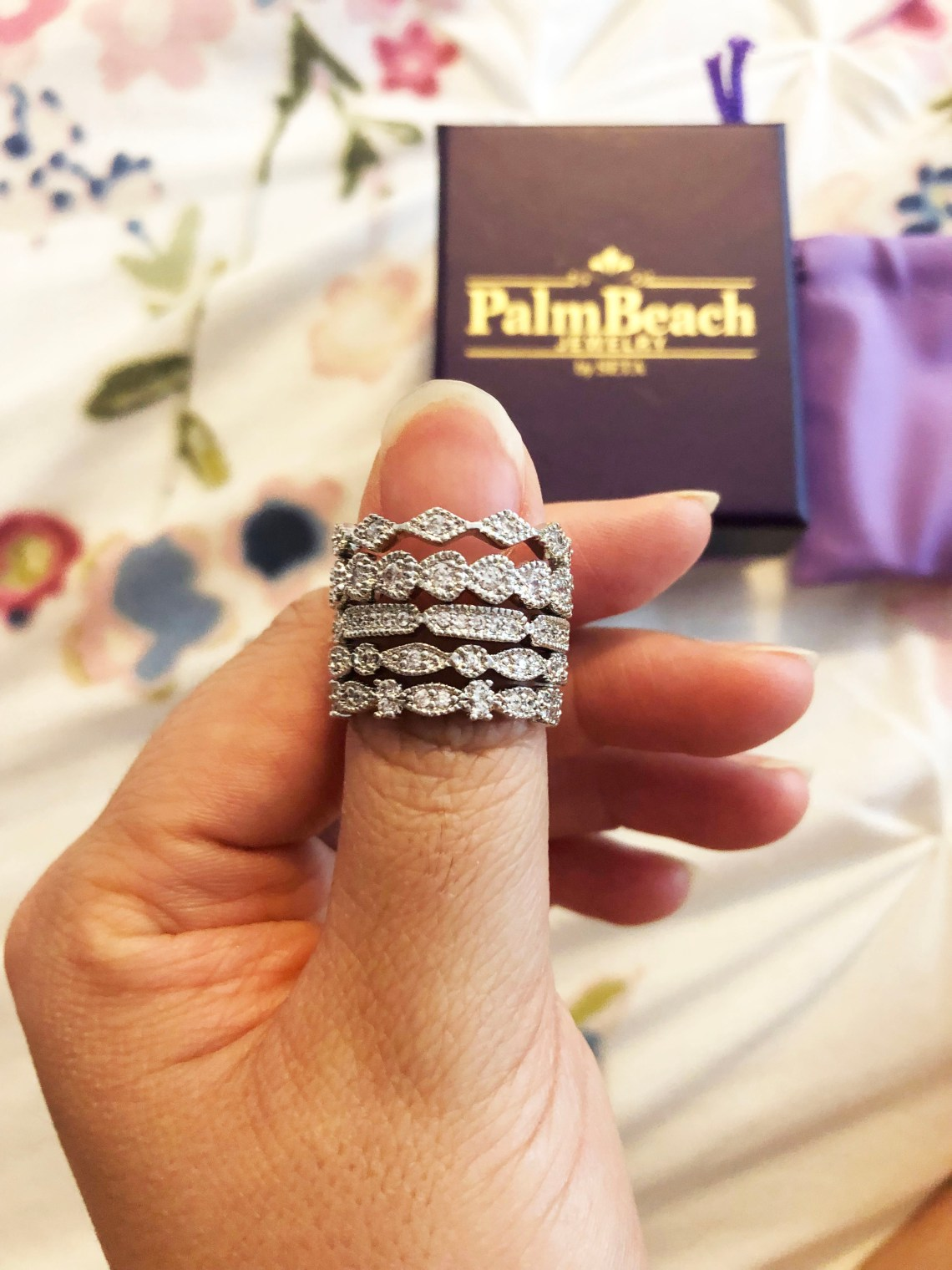 PalmBeach Jewelry - Eternity Ring Stack
