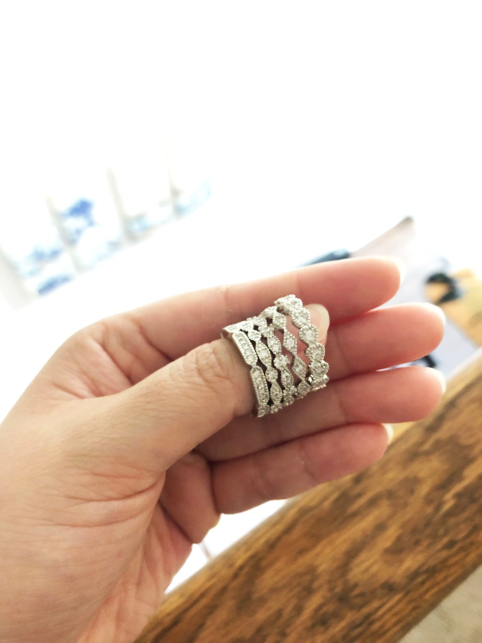 PalmBeach Jewelry - Eternity Ring Stack 9