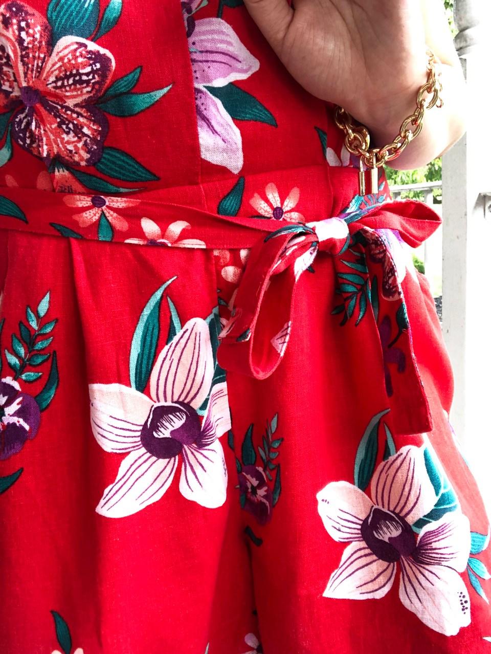 Red Floral Romper 16