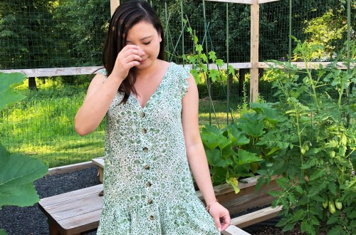 Sage Green Button Front Dress