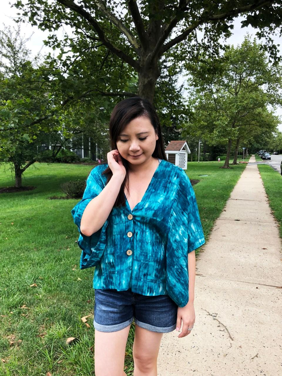 Tie Dye Kimono Top 1