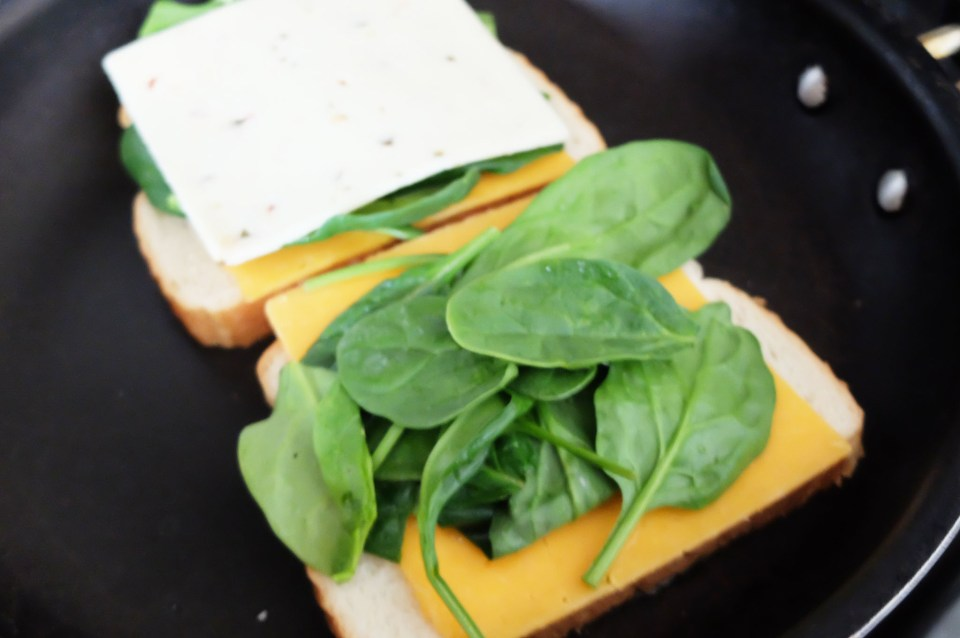 Grilled Spinach & Cheese Sandwich 1