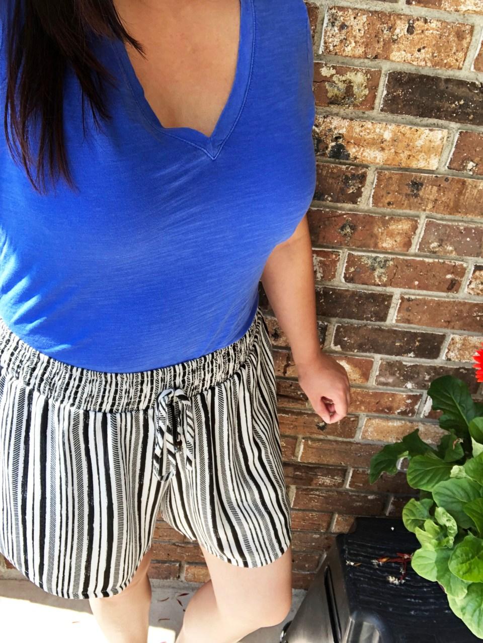 Gauze Striped Shorts 14
