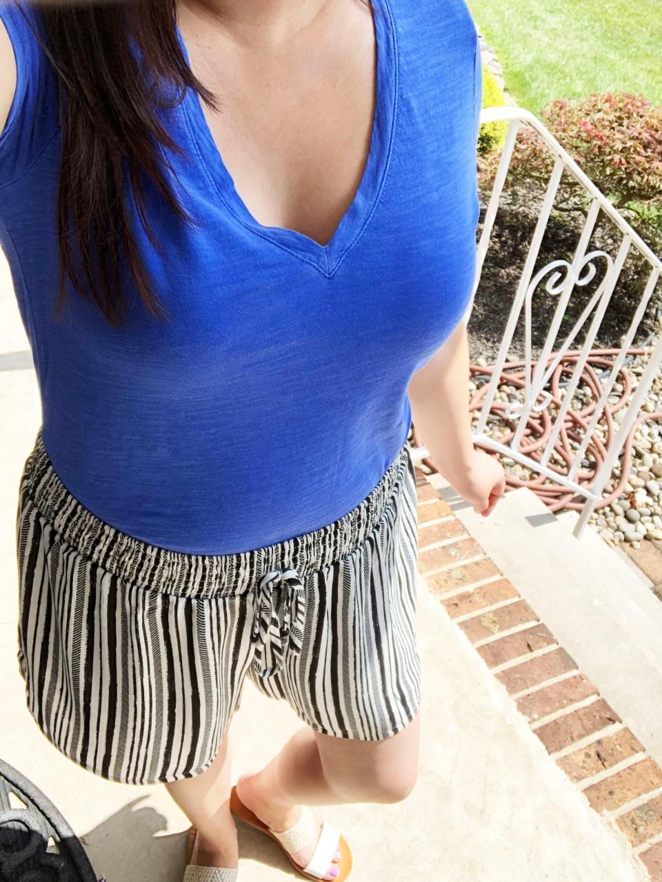 Gauze Striped Shorts 15