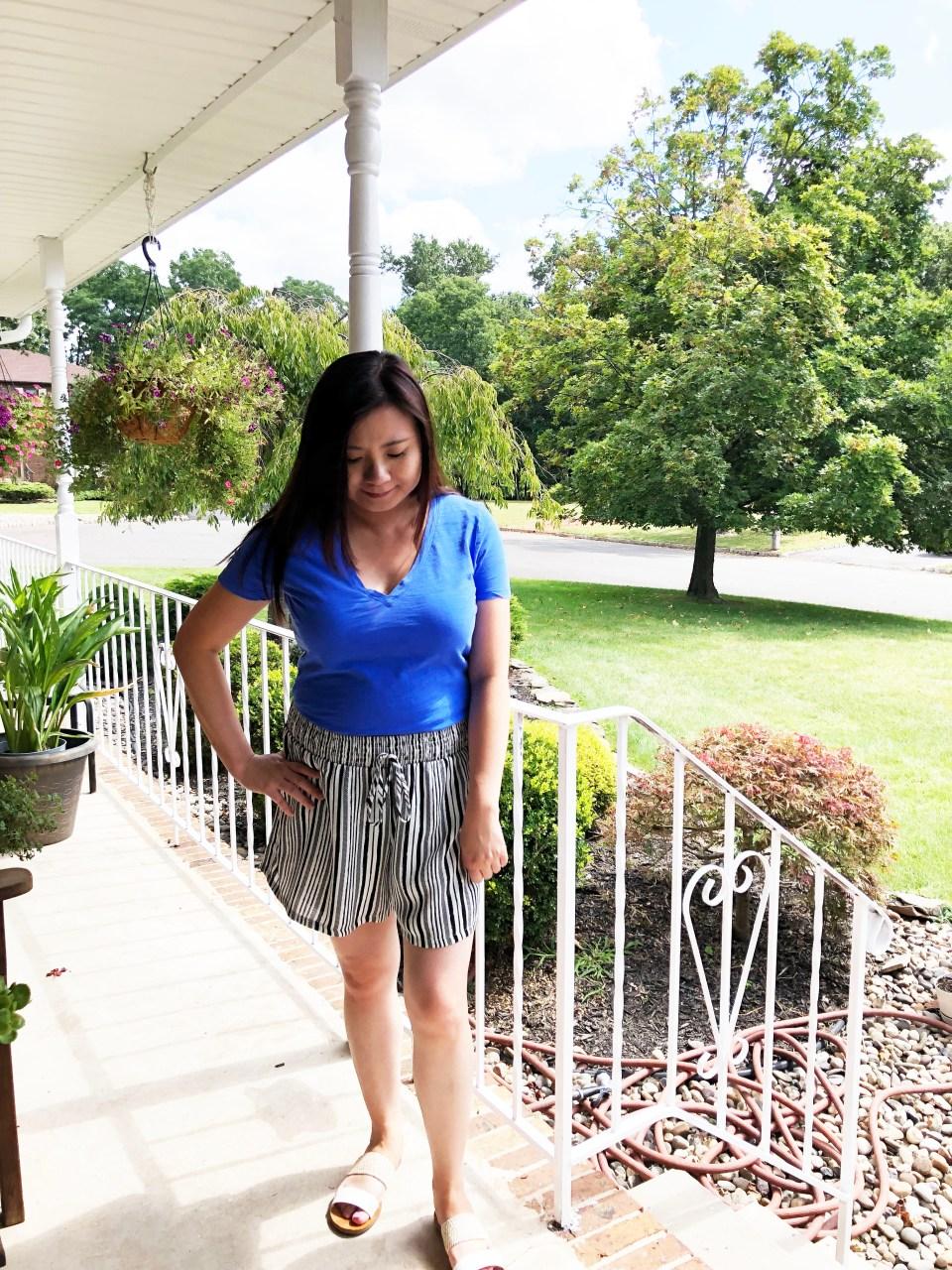 Gauze Striped Shorts 5