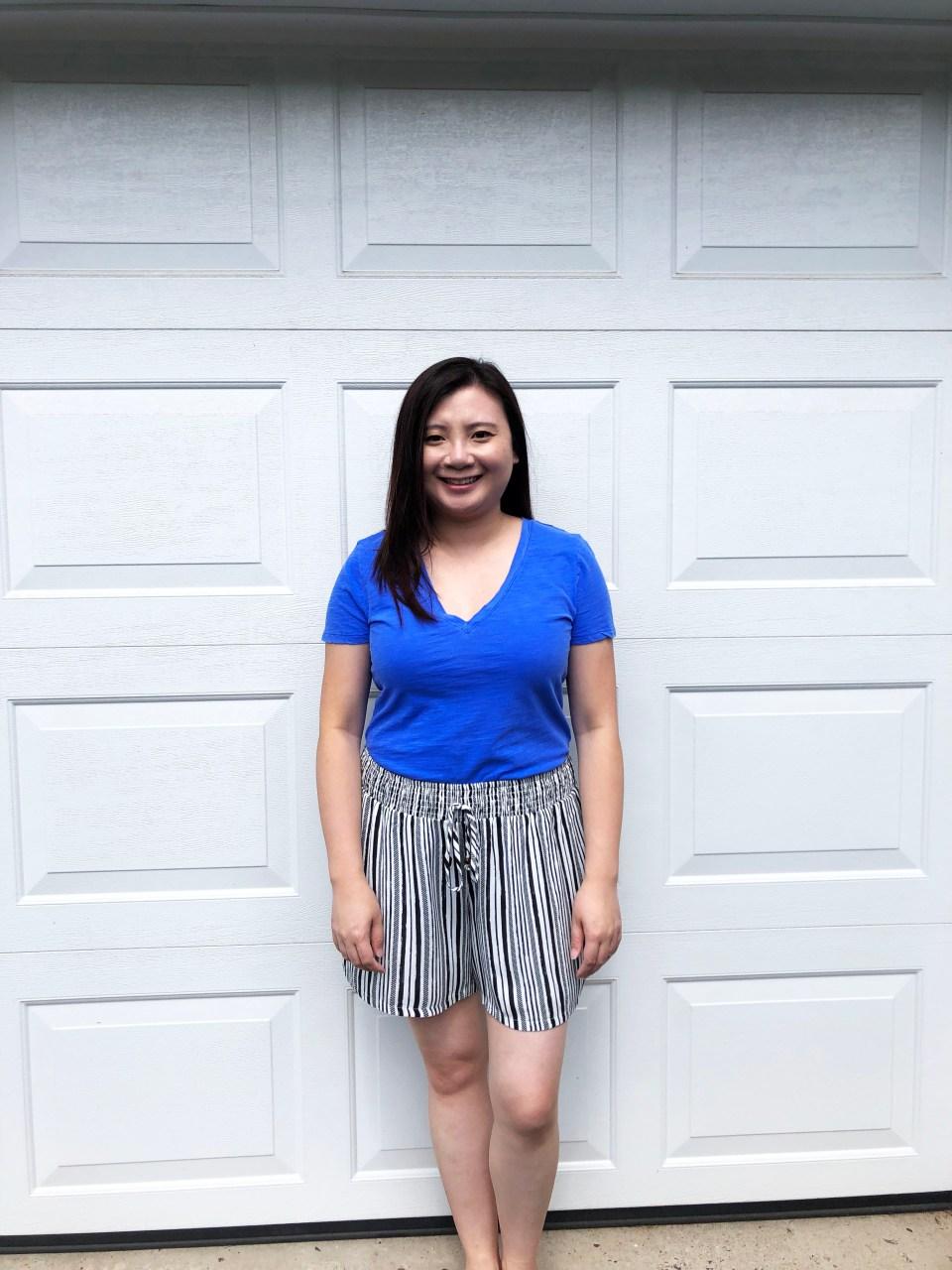 Gauze Striped Shorts