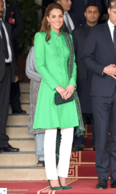 Kate Middleton - Emerald Green Tunic