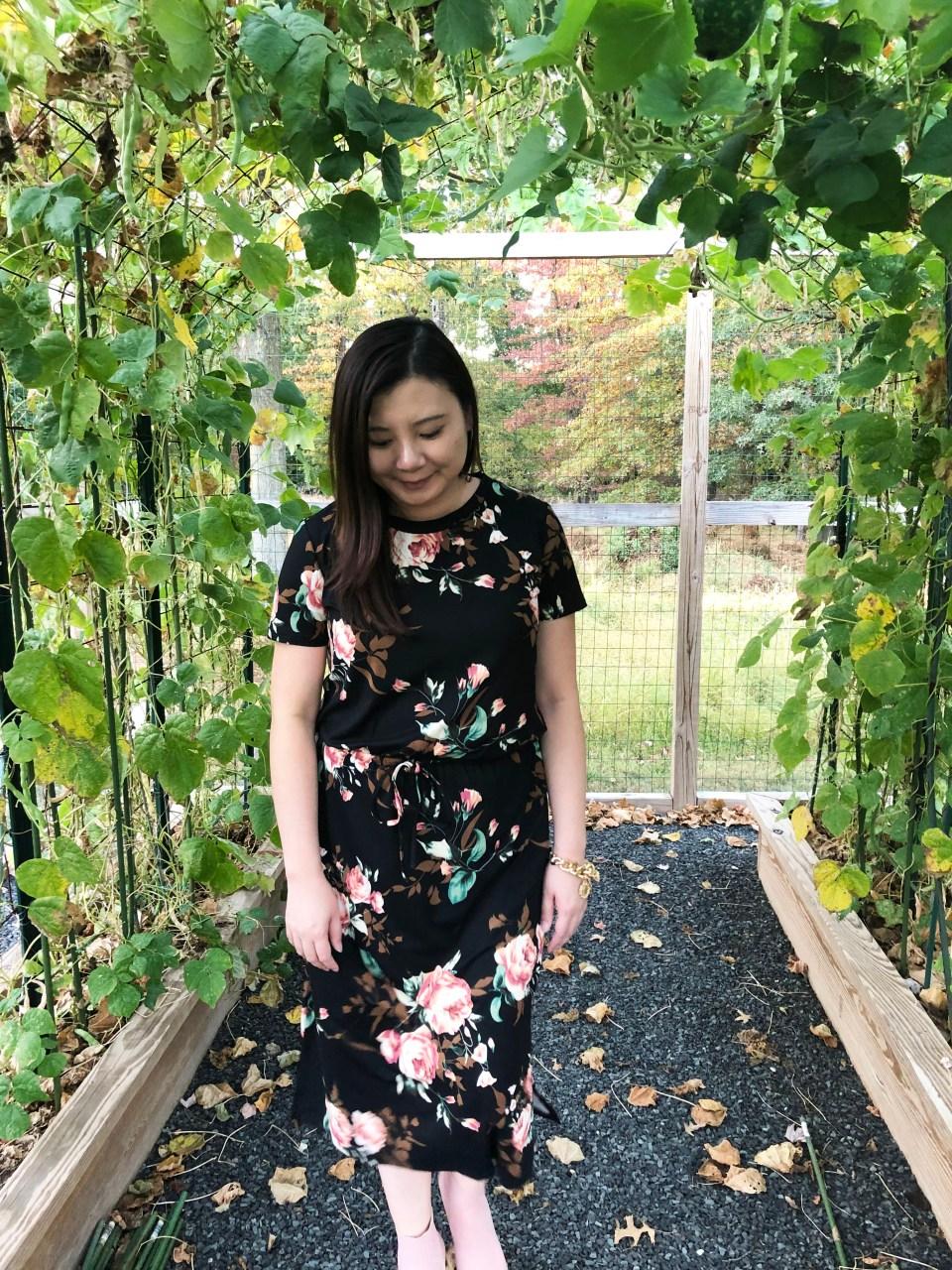 Large Floral Midi Dress 14