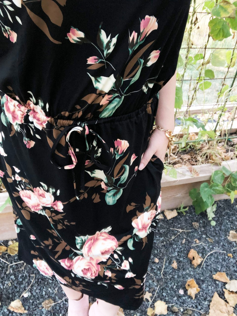 Large Floral Midi Dress 18