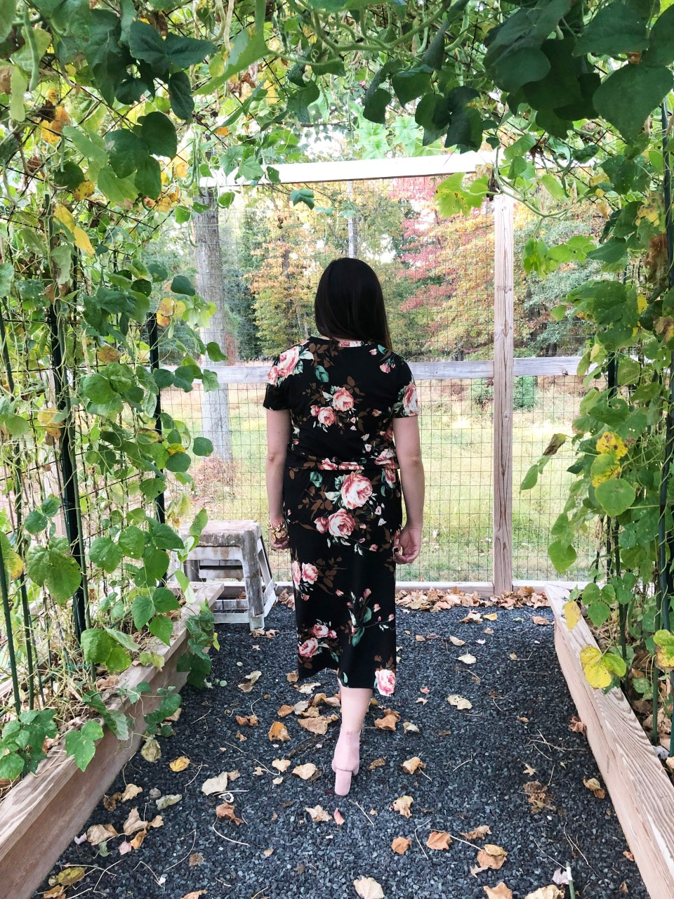 Large Floral Midi Dress 3