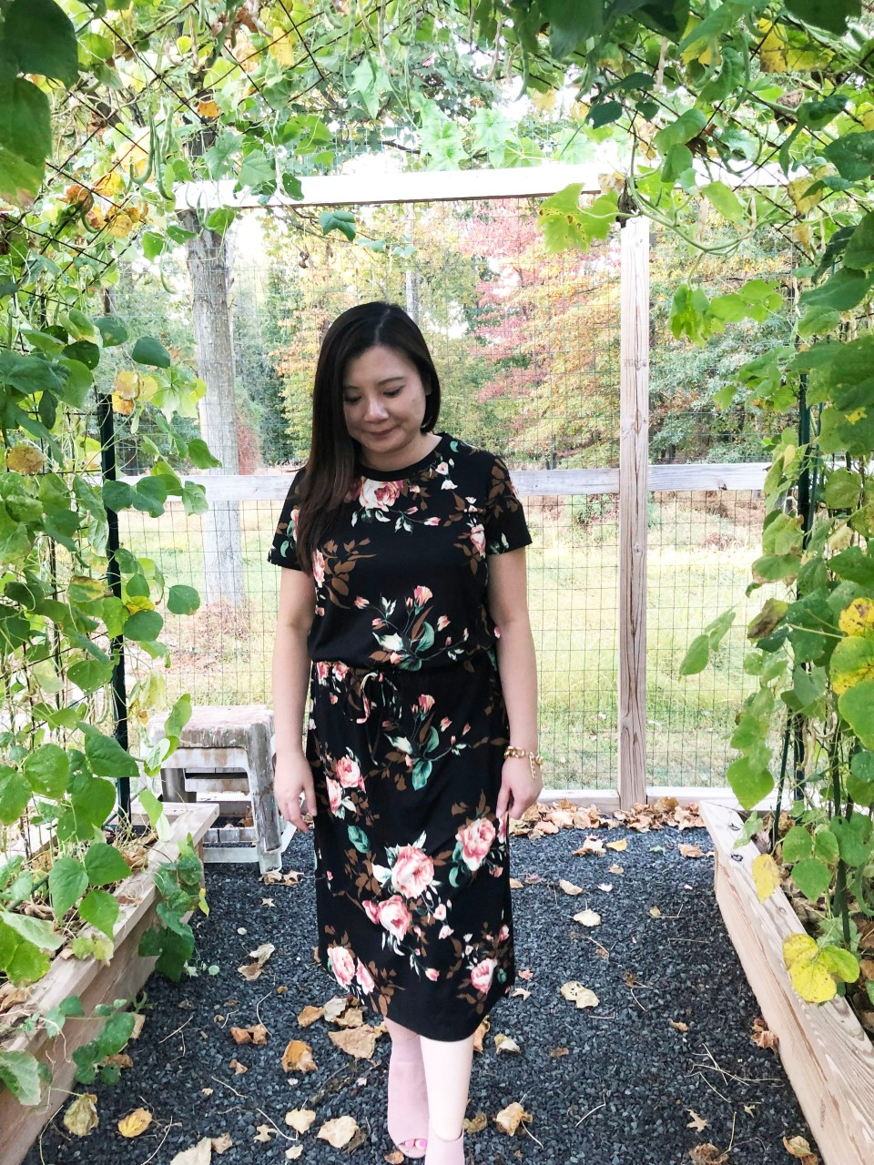 Large Floral Midi Dress 6