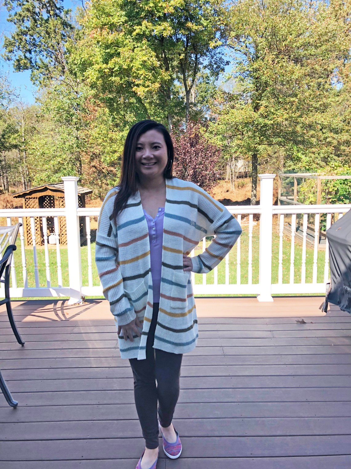 Muted Striped Cardigan