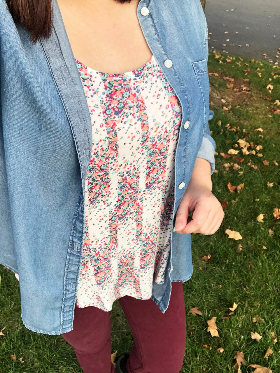 Chambray Top + Confetti Tank 12
