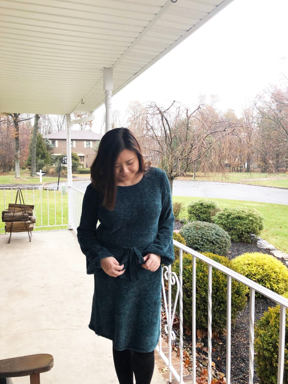 Chenille Sweater Dress 11
