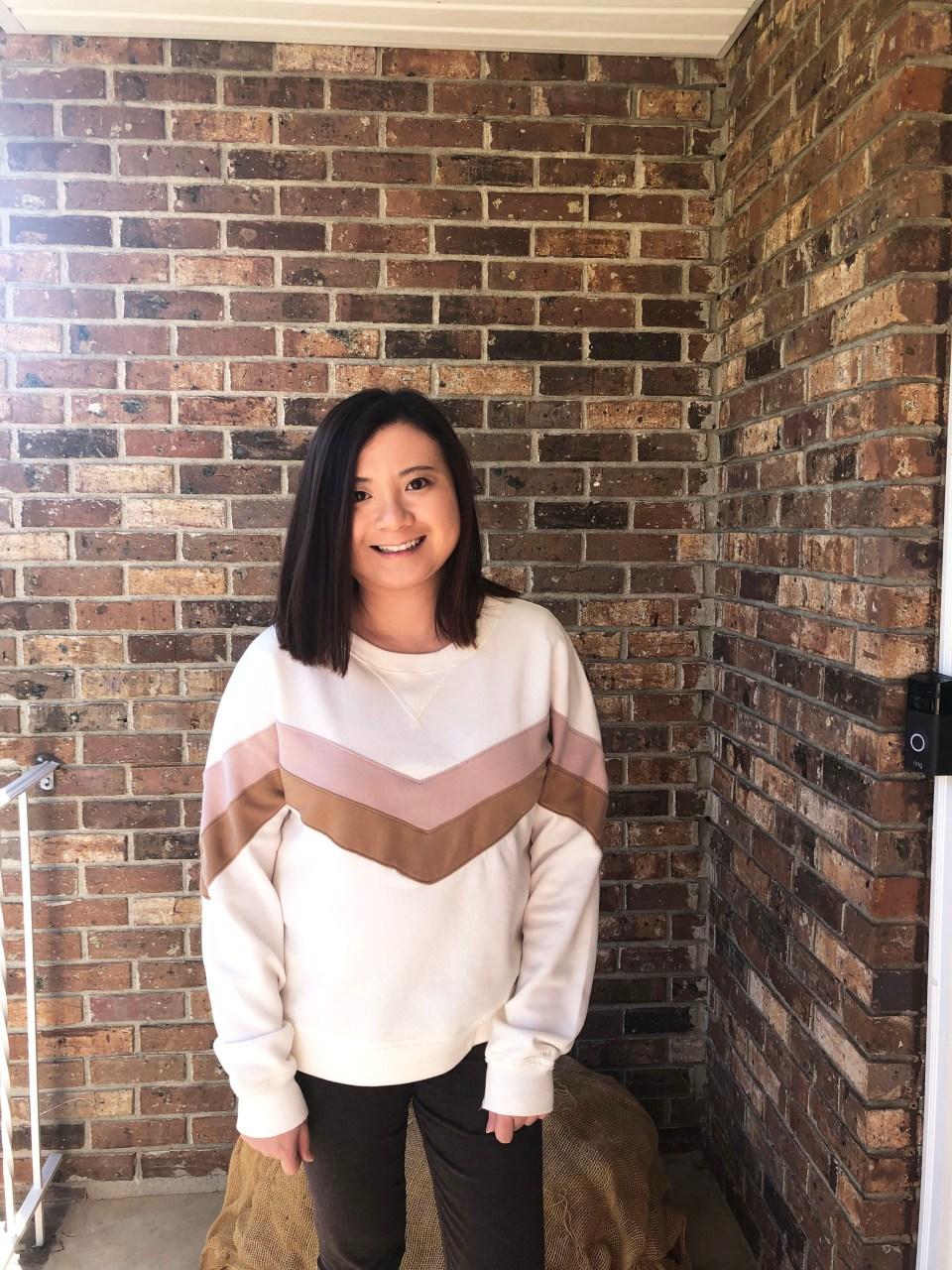 Chevron Colorblock Sweatshirt 12