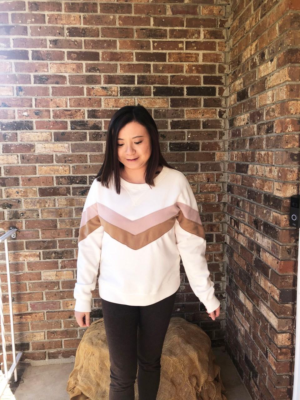 Chevron Colorblock Sweatshirt 5