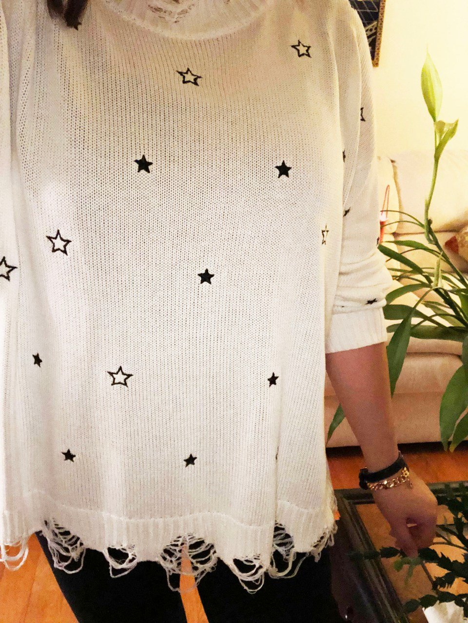 Distressed Star Sweater 13