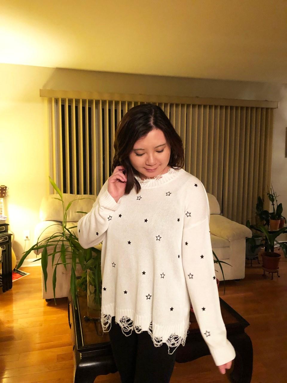 Distressed Star Sweater 4