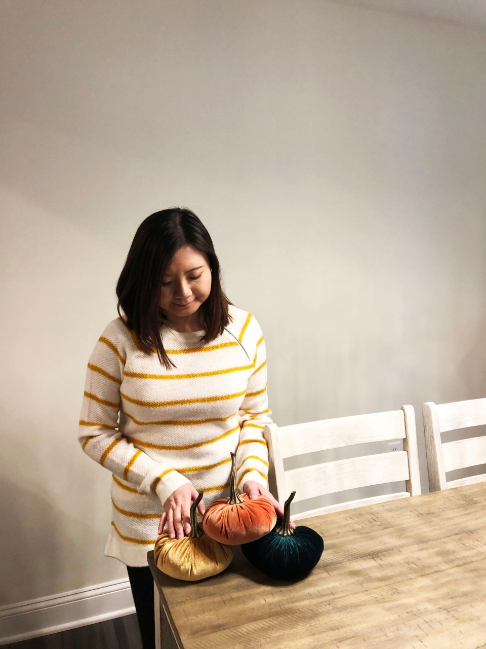 Mustard Stripe Sweater 1