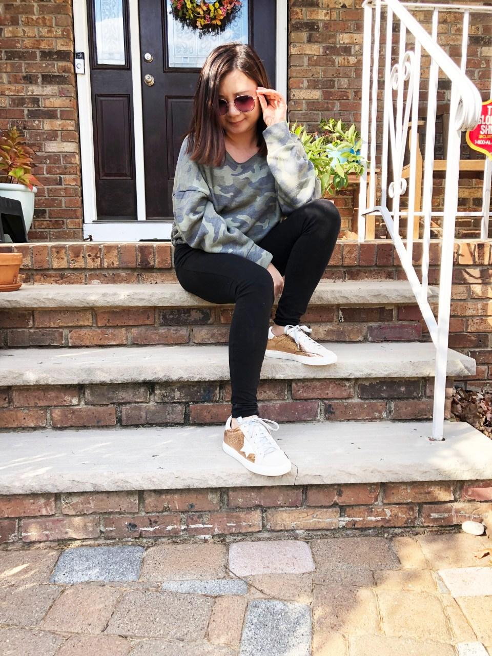 Rose Gold Star Sneakers 16
