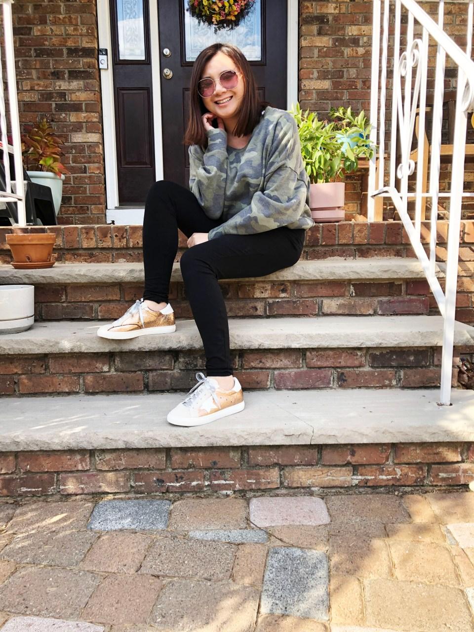 Rose Gold Star Sneakers 17