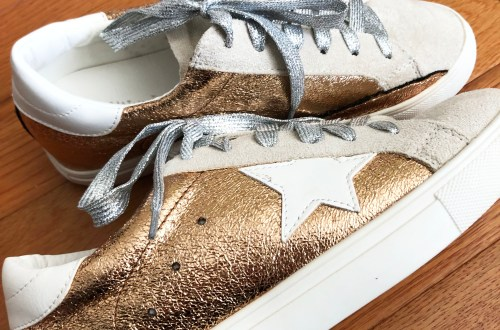 Rose Gold Star Sneakers