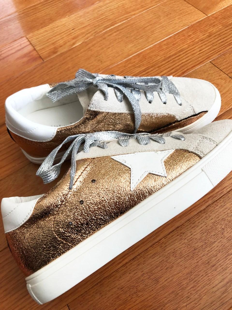 Rose Gold Star Sneakers 4