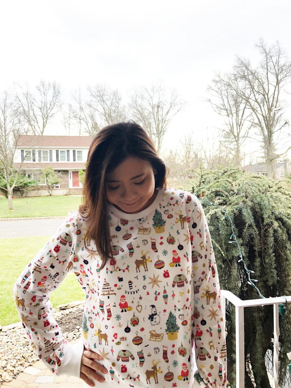 Christmas Graphic Fleece Sweatshirt 7