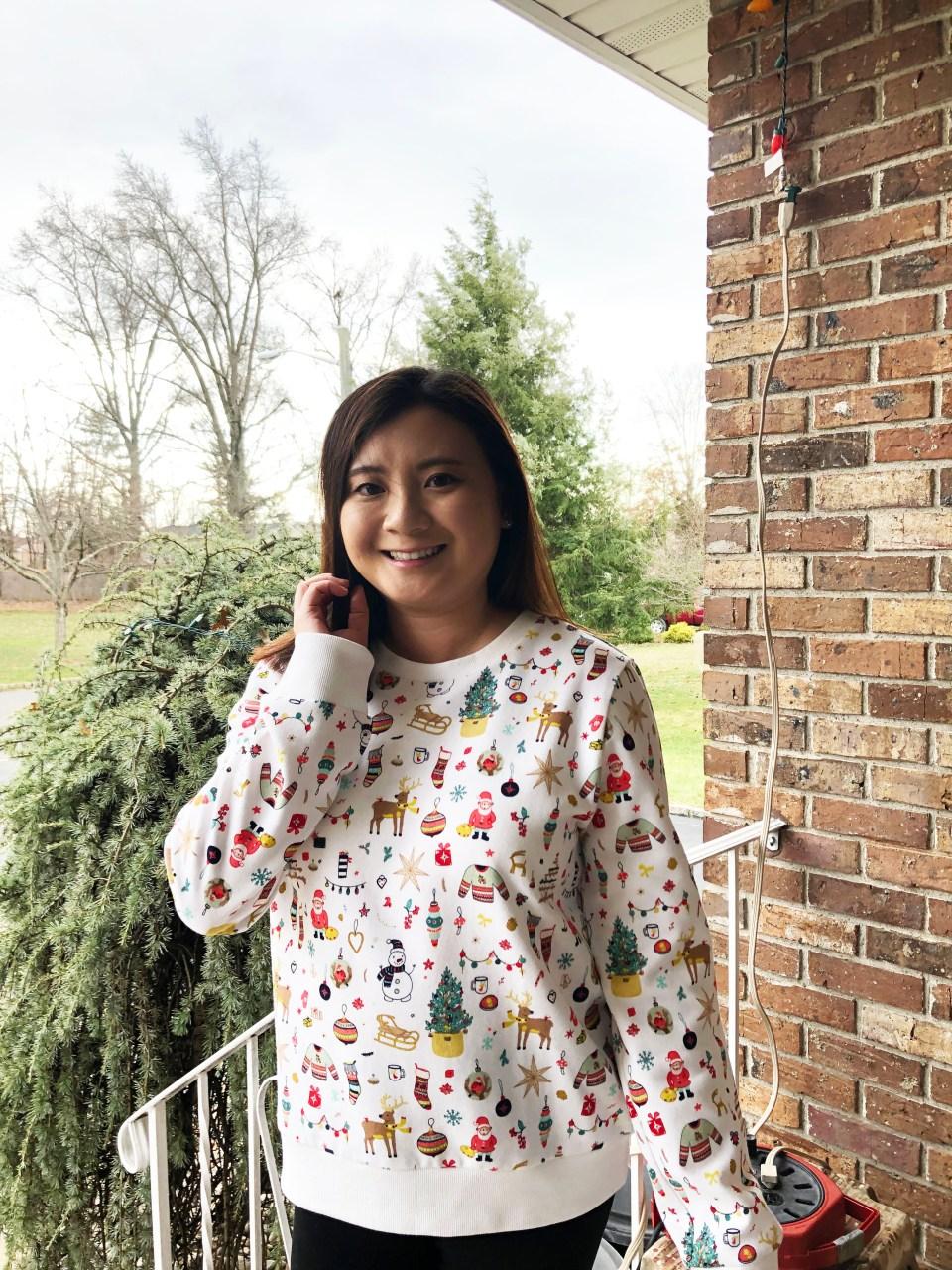 Christmas Graphic Fleece Sweatshirt