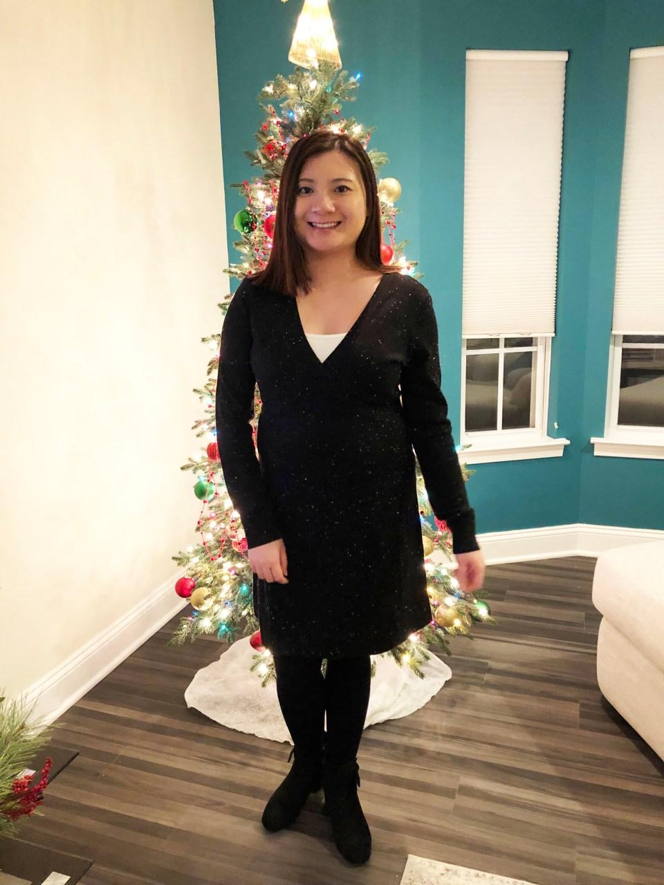 Flecked Wrap Sweater Dress 11