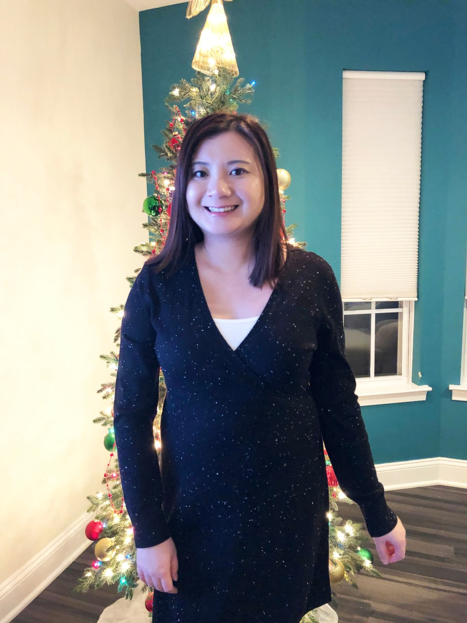 Flecked Wrap Sweater Dress 13
