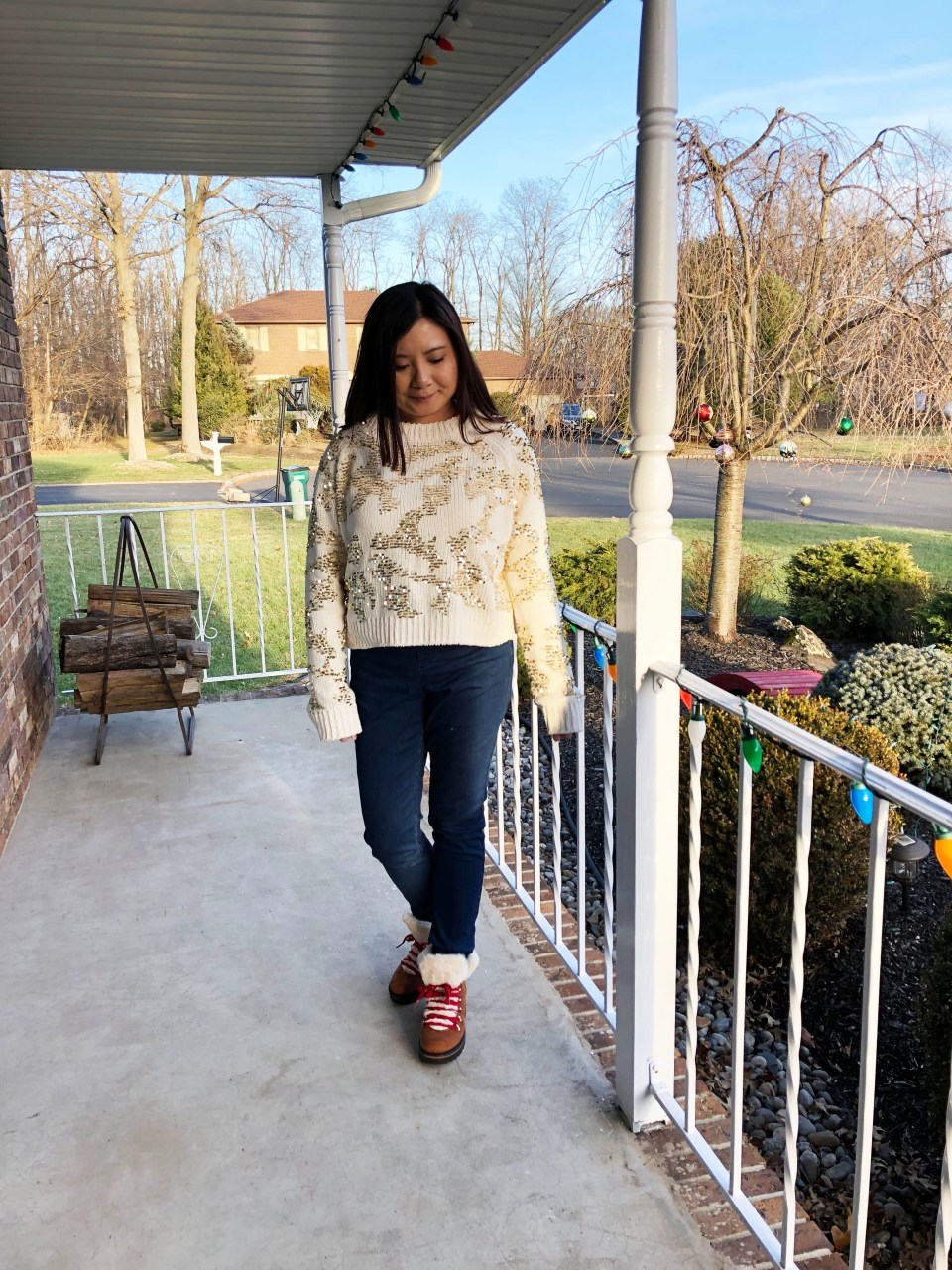 Gold Sequin Sweater 1